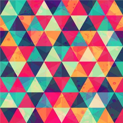 Papel de Parede Triângulos Coloridos II