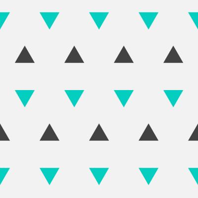 Papel de Parede Triângulos (Preto e Verde)