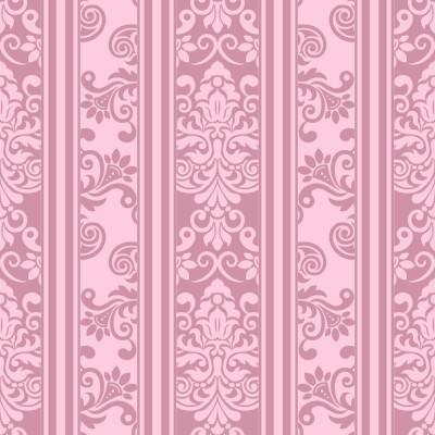 Papel de Parede Arabesco Rosa