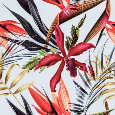 Papel de Parede Flores Tropicais
