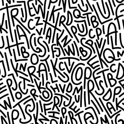 Papel de Parede Letras