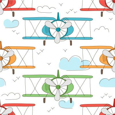 Papel de Parede Infantil Aviões