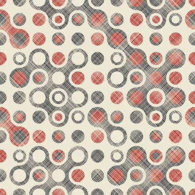 Papel de Parede Bolinhas Abstratas (Vermelho e Preto)