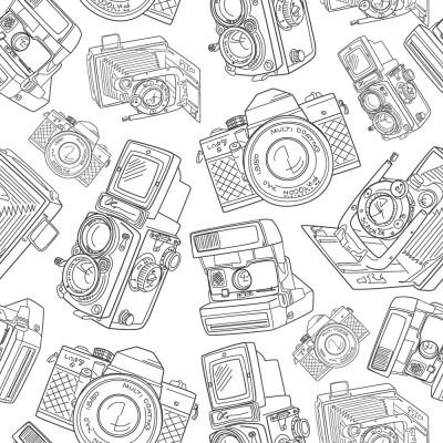 Papel de Parede Câmera Fotográfica (Preto e Branco)