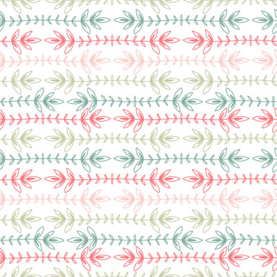 Papel de Parede Linhas Ramos Verticais Coloridos