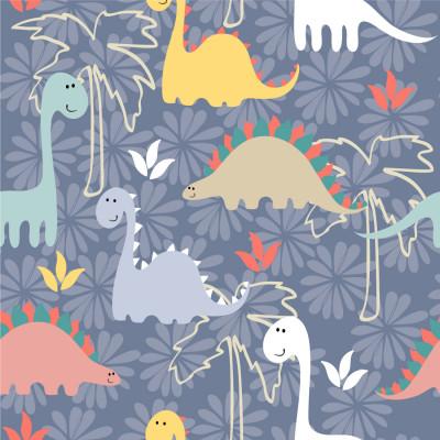 Papel de Parede Infantil Dinossauros
