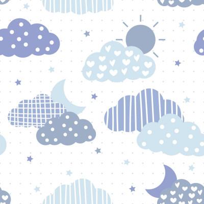 Papel de Parede Nuvens e Estrelas