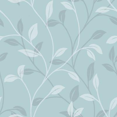 Papel de Parede Floral Azul Turquesa