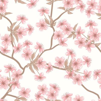 Papel de Parede Flor de Cerejeira