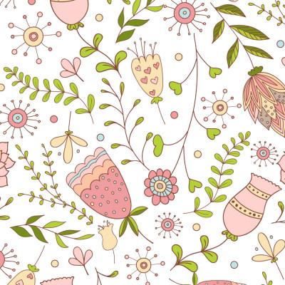 Papel De Parede Infantil Floral Delicado
