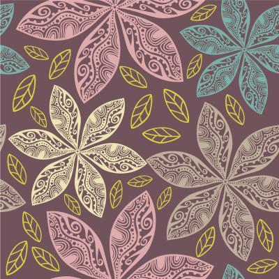 Papel de Parede Flores Arabescas Pasteis