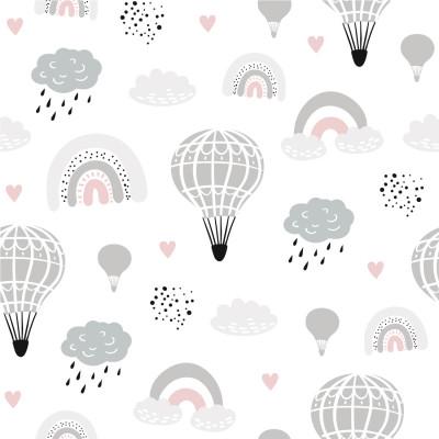 Papel de Parede Infantil Aviãozinho com Balões
