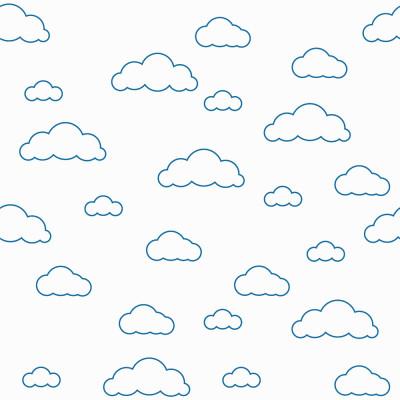 Papel de Parede Infantil Nuvens