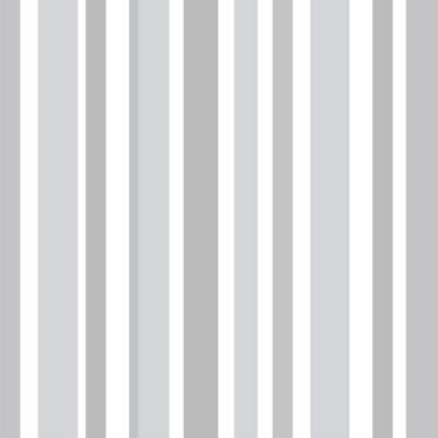 Papel De Parede Listras Assimétricas Cinza e Branco