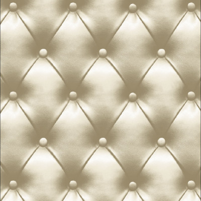 Papel de Parede Acolchoado Bege - Corium - Rolo com 10 Metros