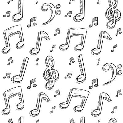 Papel de Parede Notas Musicais Abstratas