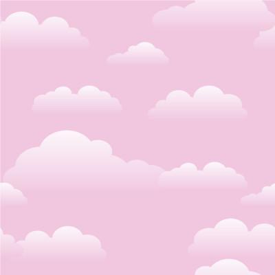 Papel de Parede Céu Nuvens Cor de Rosa