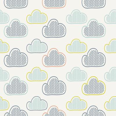 Papel de Parede Infantil Nuvens Abstratas