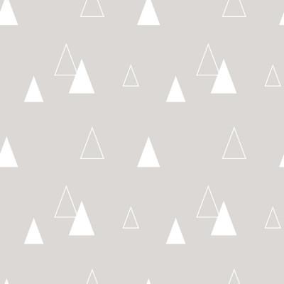 Papel de Parede Triângulos Abstratos (Laranja)