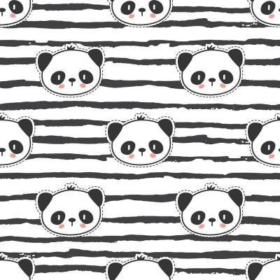 Papel de Parede Infantil Pandas