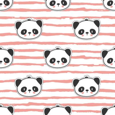 Papel de Parede Infantil Panda (Rosa)