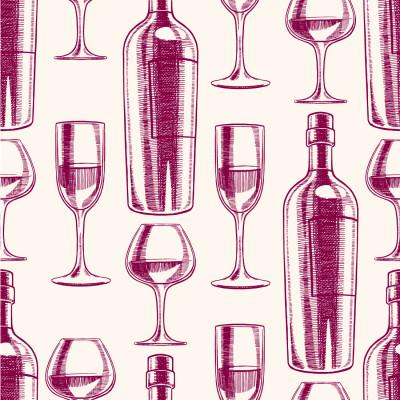 Papel de Parede com Taça de Vinho