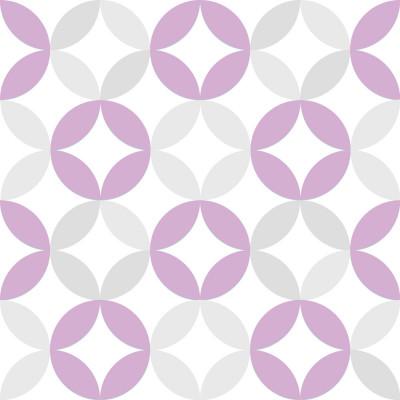 Papel de Parede Infantil Círculos (Lilás e Cinza)