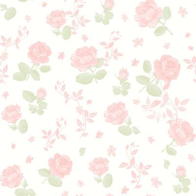 Papel de Parede Infantil Floral Rosas