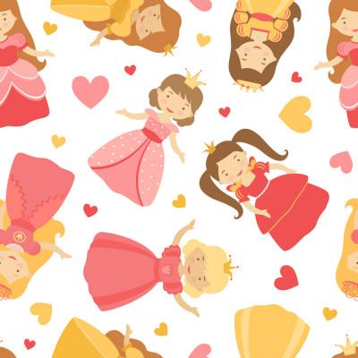 Papel de Parede Infantil Princesas