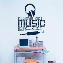 Adesivo de Parede Fone Music