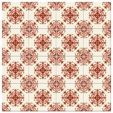 Adesivo para Azulejo Português Vermelho