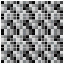 Adesivo Para Azulejo Preto e Branco (Imitação de Pastilhas)