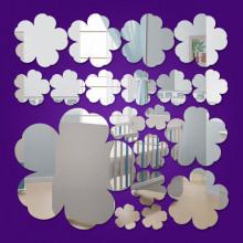 Espelho Decorativo Mini Flores - 19 Peças