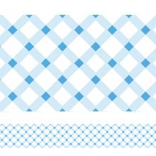 Faixa Decorativa Xadrez Azul