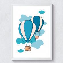 Quadro Decorativo Infantil Balões