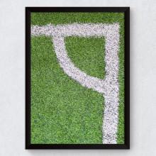 Quadro Decorativo Campo de Futebol Escanteio