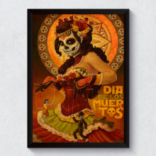 Quadro Decorativo Dia de Los Muertos