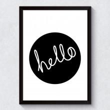 Quadro Decorativo Hello