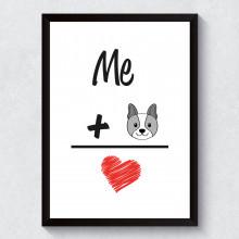 "Quadro Decorativo ""I Love Dog"""