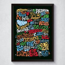 "Quadro Decorativo ""Imagine"" John Lennon"