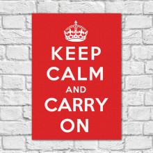 Quadro Decorativo Keep Calm and Carry on - Em Canvas