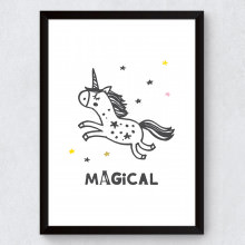 "Quadro Decorativo Infantil Unicórnio ""Magical"""