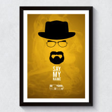 Quadro Decorativo Minimalista Breaking Bad