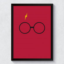 Quadro Decorativo Minimalista Harry Potter