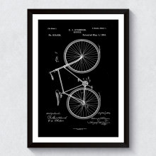 Quadro Decorativo Projeto de Bicicleta