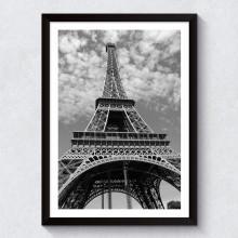 Quadro Decorativo Torre Eiffel (Fotografia Preto & Branco)