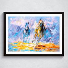 Quadro Decorativo Cavalos