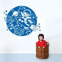 Adesivo de Parede Decorativo Astronauta
