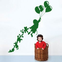 Adesivo de Parede Criança e Balões