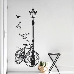 Adesivo de Parede Bicicleta & Poste